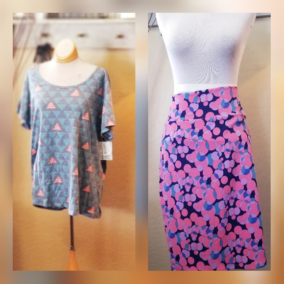 🌿NWT 2️⃣pack -2XL Lularoe bundle skirt&top🌿
